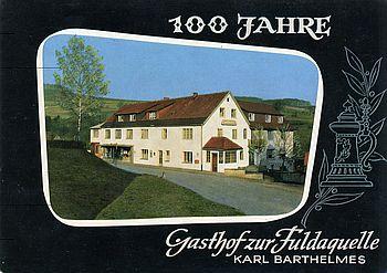 Der Genussgasthof fuldaquelle 1966